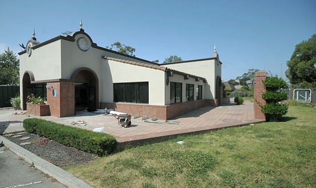 The old Burger King, under reconstruction to become the new Chick-fil-A.