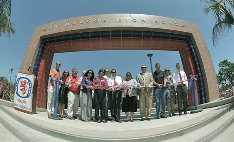 Ribbon cutting ceremony at San Marcos High School