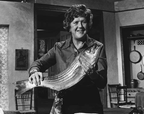 Julia Child back in the early 1960s from an episode of her classic television show <em>The French Chef</em>.