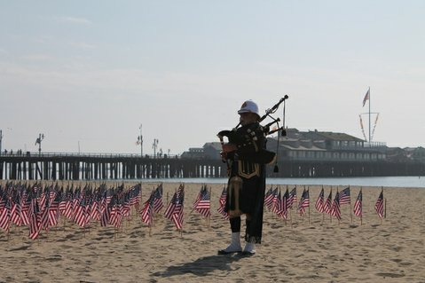 9/11 memorial on West Beach