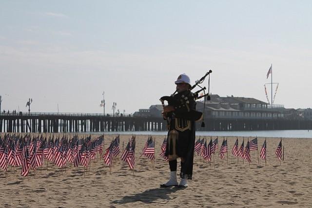 9/11 memorial on West Beach