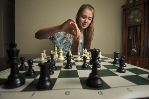 Agata Bykovtsev, 13, heads to Slovenia next month to play in the World Youth Chess Championships.