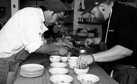 Spare Parts Bistro's Alvaro Rojas and Weston Richards provide the eats for CAF's first Crave event.