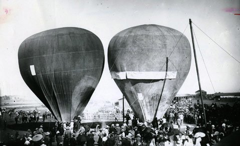 Balloon exhibition, 1891.