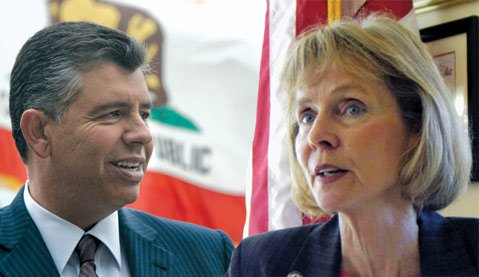 Abel Maldonado and Lois Capps