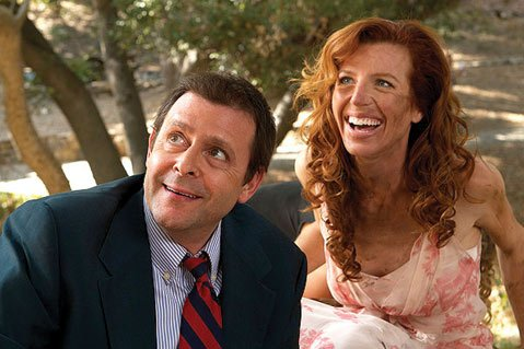 Judd Nelson and Tanna Frederick star in <i>Just 45 Minutes from Broadway</i>, which showcases just enough pretentious and blathering banter to render it unbearable.
