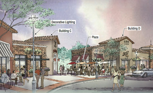 Rendering of Westar's proposed mixed-use project in Goleta