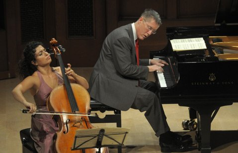 Ani Aznavoorian and Warren Jones performed works by Chopin, Brahms, and Crumb.