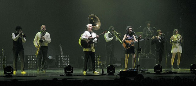 David Byrne and St. Vincent at the Arlington Theatre