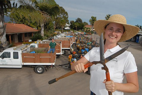 Kitson Landscaping Management's Sarah Kitson.