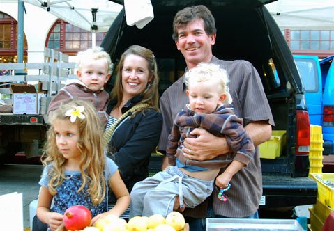 Jay Ruskey (and family) of Good Land Organics