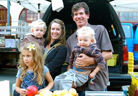 Jay Ruskey (and family) of Good Land Organics