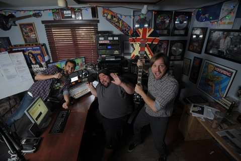 Deejays Ricky Biggs (left), Phat J, and Dave Hanacek liven the day on 92.9 KJEE.