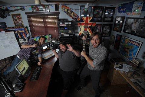Deejays Ricky Biggs (left), Phat J, and Dave Hanacek liven the day on 92.9 KJEE.