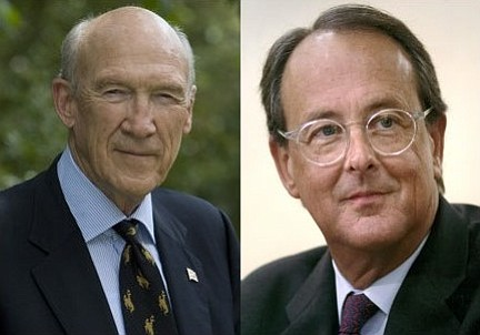 Alan Simpson (left) and Erskin Bowles