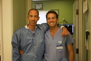 Dr. Marc Bienstalk (left) and Dr. Eric Wallace