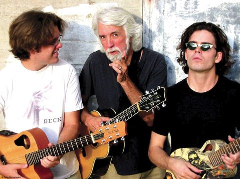 John McEuen (center) and sons Nathan (left) and Jonathan McEuen take to the stage at the Lobero Theatre on Saturday, November 17.