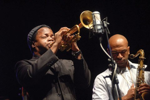 Trumpeter Ambrose Akinmusire in action in Belgrade.