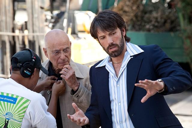 "Ben Affleck with Alan Arkin on the set of ""Argo"""