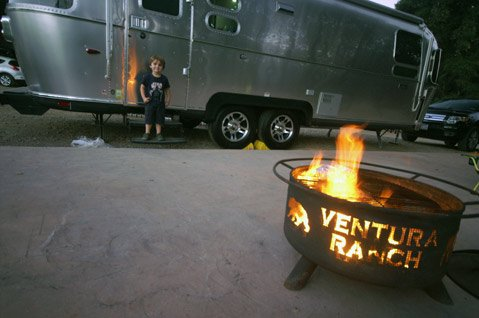 A night of stylish trailer camping at Ventura Ranch KOA.