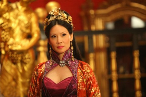 Lucy Lui stars as Madam Blossom in <em>Man with the Iron Fists</em>.