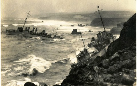 On September 8, 1923, within five minutes, seven destroyers plowed into the jagged rocks at Honda, just north of Point Arguello.