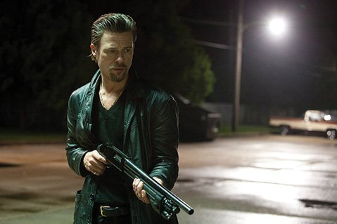 After a mob-backed card game gets stuck up, a hired hand (played by a pompadoured Brad Pitt) comes to restore order in <i>Killing Them Softly</i>.