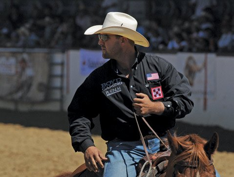 Luke Branquinho during Old Spanish Days Rodeo in August 2012.