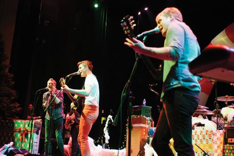 In 2011, Tommy & The High Pilots' annual Christmas show featured a special guest appearance by Kenny Loggins (pictured far left). This Saturday, the band returns to the Lobero Theatre for another action-packed holiday concert.