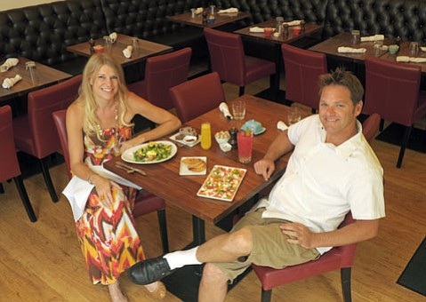 Scarlett Begonia owner Krista Fooks and executive Chef Joel Huff.