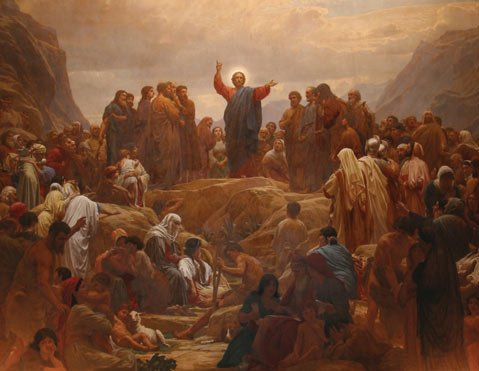 Could Jesus Christ's Sermon on the Mount, as depicted here by artist Henrik Olrik, have been more about politics than religion? One scholar thinks so.
