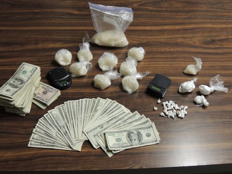 Meth, cocaine, and money seized during drug bust
