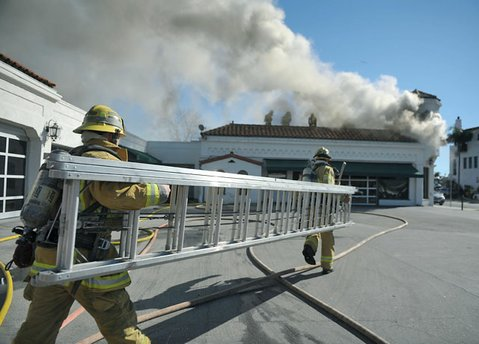 Structure fire at 530 Chapala Street (January 3, 2012)