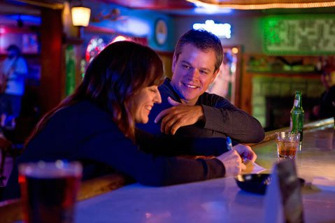Matt Damon with Rosemarie DeWitt in a scene from <em>Promised Land</em>.
