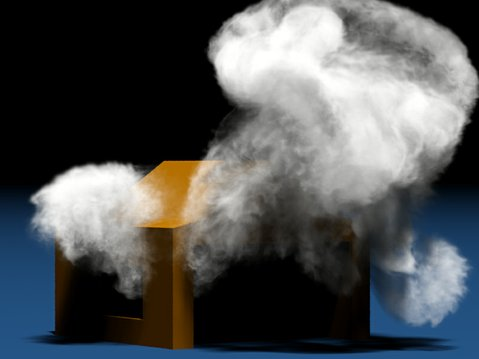 High-resolution smoke simulation generated using Theodore Kim&#39;s &quot;wavelet turbulence&quot; algorithm.