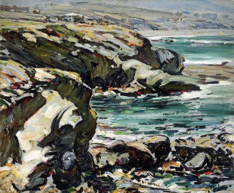 Clarence Hinkle, &lt;i&gt;Coast Line, Laguna&lt;/i&gt;, (ca. 1924). Oil on canvas.