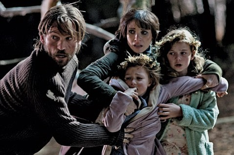 A ghost creature follows two orphaned girls after they come under the care of their uncle (Nikolaj Coster-Waldau) and his girlfriend (Jessica Chastain) in <i>Mama</i>.