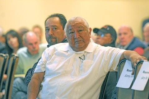 Vincent Armenta (left), tribal chair of the Santa Ynez Band of Chumash Indians, with Richard Gomez, Vice Chairman.