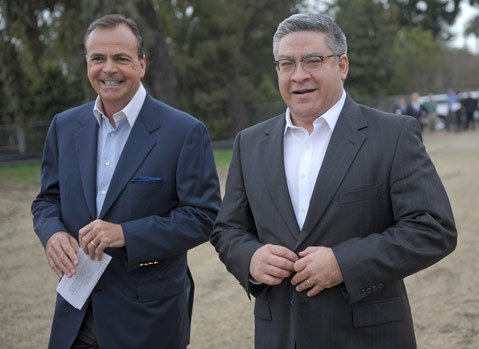 Rick Caruso (left) with 1st District Supervisor Salud Carbajal