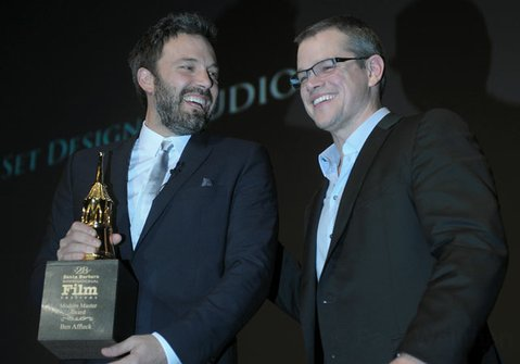 Ben Affleck receives the SBIFF 2013 Modern Master Award presented by Matt Damon (Jan. 25, 2013)