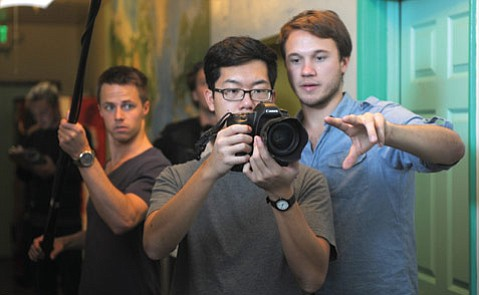 10-10-10 Director Johan Bodell shooting the zombie movie <i>Killer Raise</i> inside SB Tourist Hostel