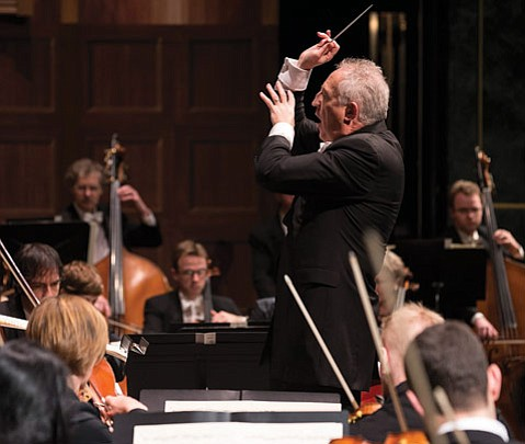 Bramwell Tovey led the orchestra and provided witty, insightful commentary on the program.