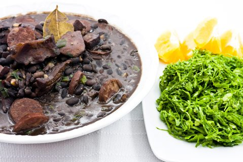 <i>Feijoada</i>, a Carnival staple and Brazil's national dish.