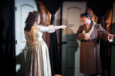 Pop-up theater in Santa Barbara scored another hit this weekend with this comedy/drama set in 17th Century England.