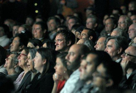 Quentin Tarantino (center)