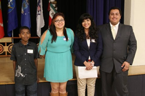From left to right: Kalique Love, Stephanie Esparza, Andrea Gallardo, Skylar Rauch