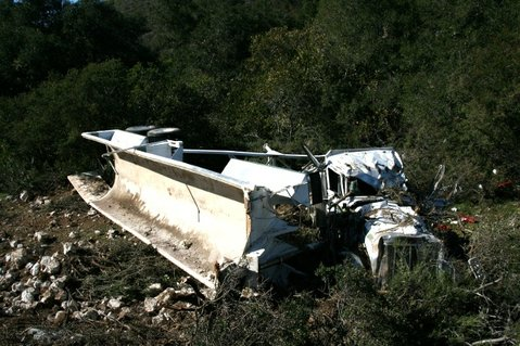 Scene of Monday&#39;s fatal big rig accident