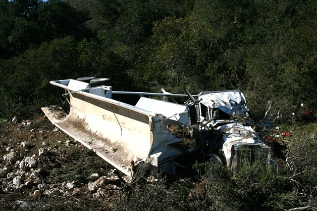 Scene of Monday's fatal big rig accident