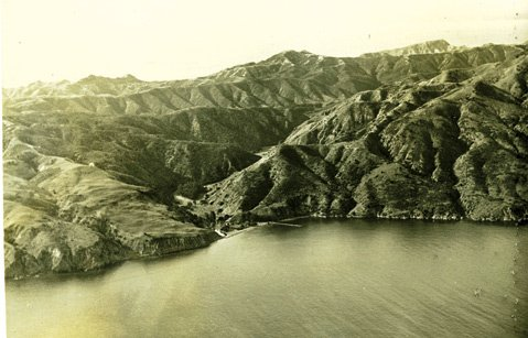Prisoners Harbor, on Santa Cruz Island's north coast.