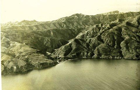 Prisoners Harbor, on Santa Cruz Island's north coast.